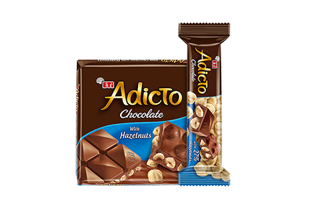 Eti Adicto Milk Chocolate with Hazelnuts