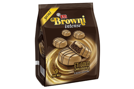 Eti Browni Intense Mini Gold Chocolate Coated Cream Filled Cake