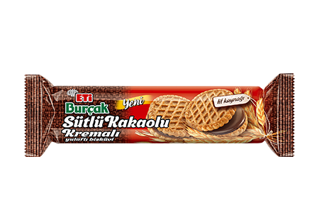 Burçak Oat Biscuit with Milk and Cocoa Cream