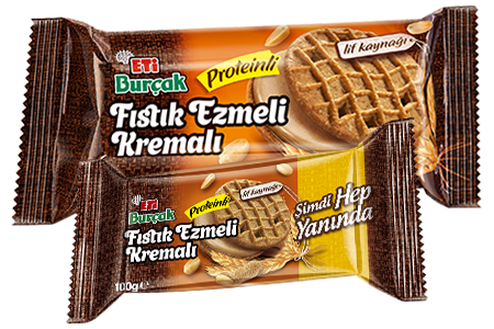 Eti Burçak, Peanut Butter, Cream and Protein Biscuit