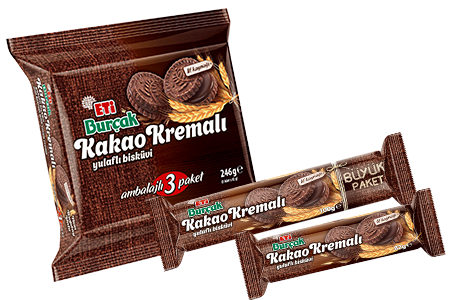 Eti Burçak with Cocoa Cream Fibrous Biscuit