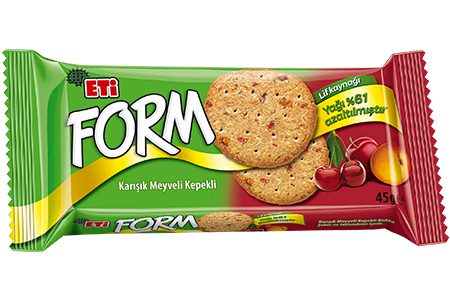 Eti Form Bran Biscuits with Mixed Fruit