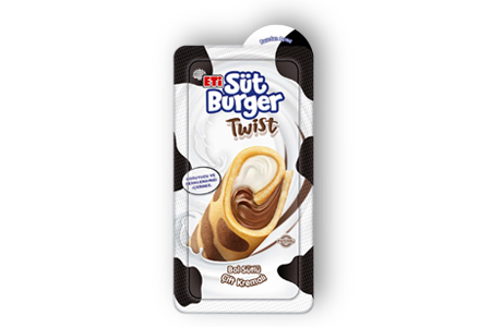 Eti Süt Burger Twist Dual Cream with Milk and Cocoa